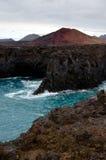 Лос Hervideros - Лансароте, Канарские острова Стоковое фото RF