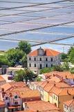 Лотки предкрылка в городке Ston, Хорватии Стоковые Фото
