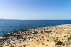 Лотки соли, остров Gozo Стоковая Фотография RF