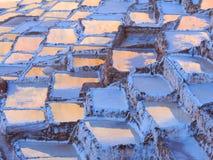 Лотки Salineras de Maras соли, Перу стоковая фотография