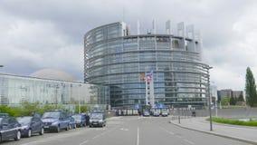 Лоток от знака Европейского парламента акции видеоматериалы