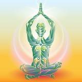 Лотос йоги Стоковая Фотография