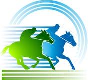 лошадиные скачки иллюстрация штока