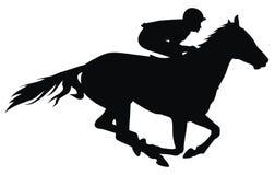лошадиные скачки иллюстрация вектора