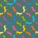 лошади делают по образцу безшовное Стоковые Фото