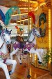 Лошади на прежнем carousel в Флоренсе, Италии Стоковые Изображения