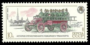 Лошади, пожарные команды Стоковое фото RF