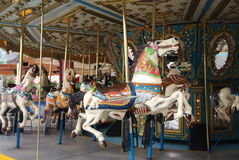 лошади carousol Стоковые Изображения
