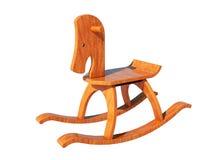 лошадь деревянная иллюстрация штока