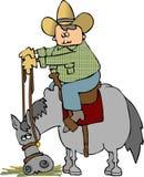 лошадь едока иллюстрация вектора