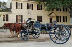 Лошадь и экипаж стоковые изображения