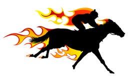 лошадь пламени иллюстрация штока
