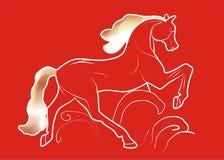лошадь пожара иллюстрация штока