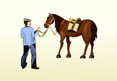 лошадь хуторянина Стоковая Фотография