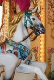 лошадь colorated carousel Стоковые Фотографии RF