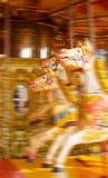 лошадь funfair carousel стоковое фото