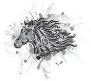 лошадь grunge Стоковые Изображения