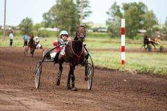 Лошадиные скачки на празднике Sabantuy Стоковая Фотография