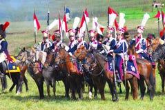 Лошади езды солдат-reenactors Стоковая Фотография RF