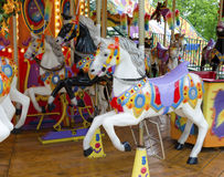 Лошади езды ярмарочной площади Лошади масленицы Стоковая Фотография