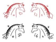 Лошади карточки Стоковое Фото