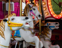 Лошади Carousel на ярмарке Стоковое Фото