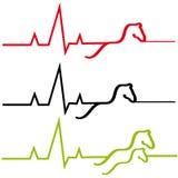 Лошади ECG на белой предпосылке бесплатная иллюстрация