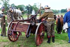 Лошад-нарисованная пожарная машина 1900s Стоковые Фото