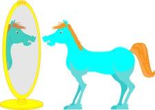Лошадь в зеркале Стоковые Изображения RF