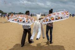 Лошадь летания подготавливает для принимает от пляжа Negombo в Шри-Ланке Стоковое Фото