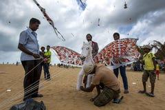 Лошадь летания подготавливает для принимает от пляжа Negombo в Шри-Ланке Стоковое Изображение