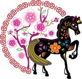 Лошадь детенышей цвета Стоковое Изображение RF