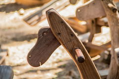 Лошадь заголовков античная деревянная тряся Стоковая Фотография RF