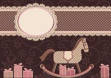 Лошадь и рамка (для вашего текста) Стоковое Изображение RF