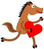 Лошадь и сердце иллюстрация штока
