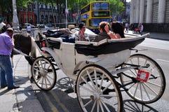Лошадь и экипаж в Дублине Стоковое Фото