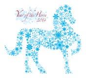 Лошадь 2014 китайцев с картиной Illusrt снежинок бесплатная иллюстрация