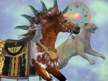 Год лошади кугуара Стоковая Фотография