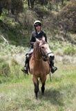 лошадь мальчика Стоковое фото RF