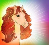 Лошадь, Новый Год, 2014 иллюстрация вектора