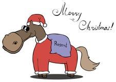 Лошадь носит подарки для рождества Стоковое Изображение RF