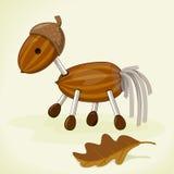 Лошадь от жолудей иллюстрация штока