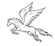 Лошадь Пегас Стоковые Фотографии RF