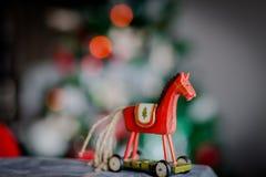 Лошадь рождества деревянная Стоковая Фотография