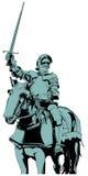 Лошадь рыцаря Стоковая Фотография