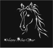 Лошадь. Счастливый Новый Год 2014. Стоковые Изображения