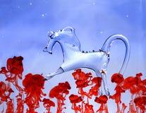 Лошадь сделанная из стекла Стоковое Фото