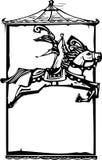 Лошадь цирка с космосом Стоковое Изображение