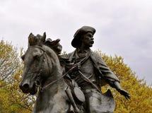 Лошадь человека статуи Waco Стоковая Фотография RF