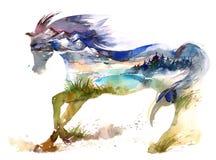 Лошадь иллюстрация штока